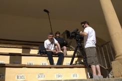 The crew, Phil, Louis and Adam