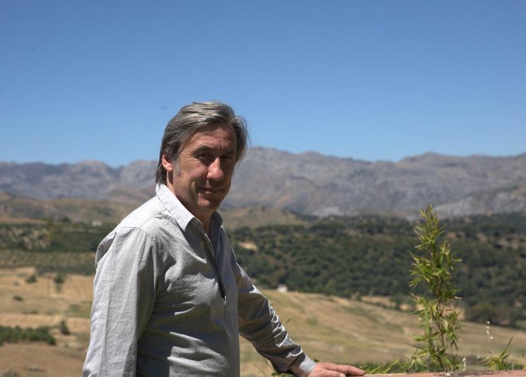 Andrew with Virgen de la Cabeza in the background
